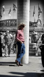 Stampede 2012 - California Kid - Leaning - decoloured
