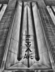 NYC - Chrysler Building - Lex Ave Sign - BW